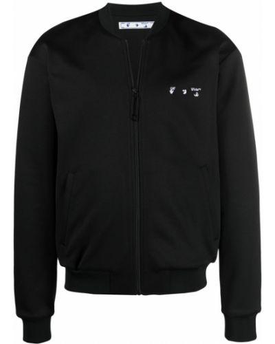 Czarna długa kurtka bawełniana z długimi rękawami Off-white