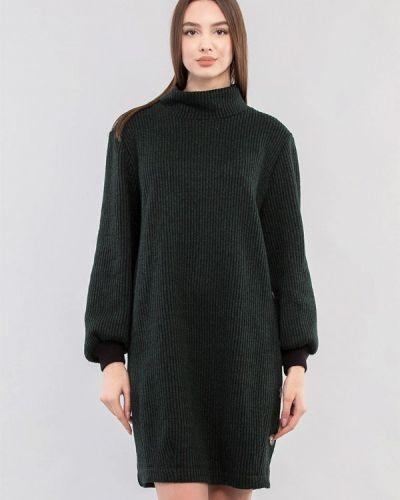 Зеленое платье-свитер Maxa