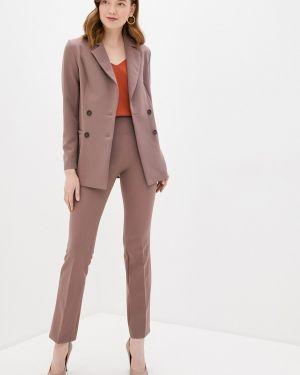 Коричневый облегающий костюмный брючный костюм Irma Dressy