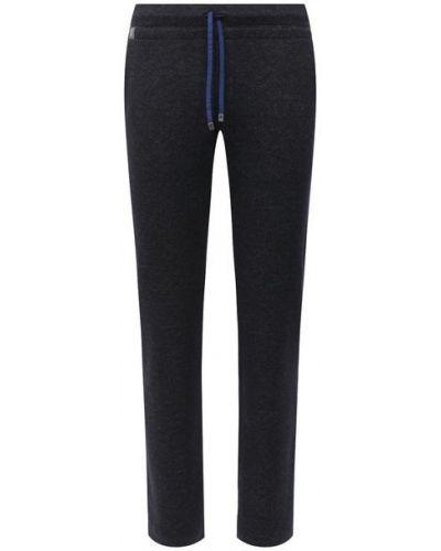 Шерстяные синие брюки Capobianco