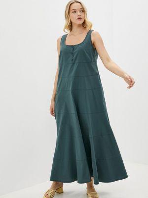 Повседневное зеленое платье Helmidge