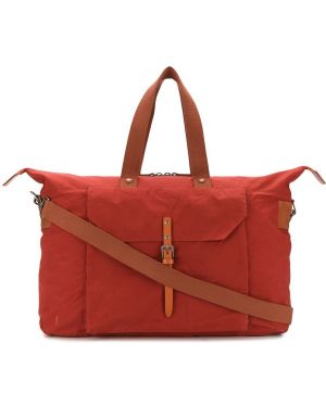 Кожаная красная дорожная сумка с пряжкой Ally Capellino