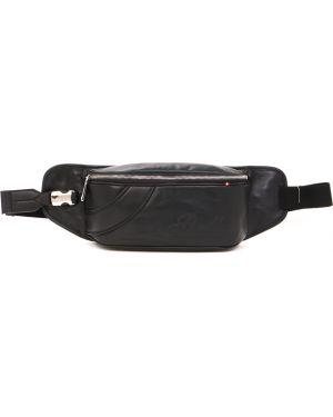 Поясная сумка кожаная на молнии Bally