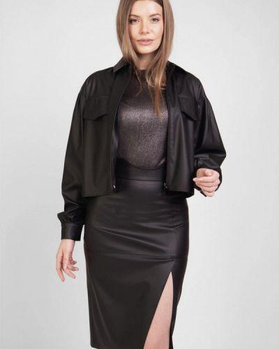 Костюмный черный юбочный костюм Bessa