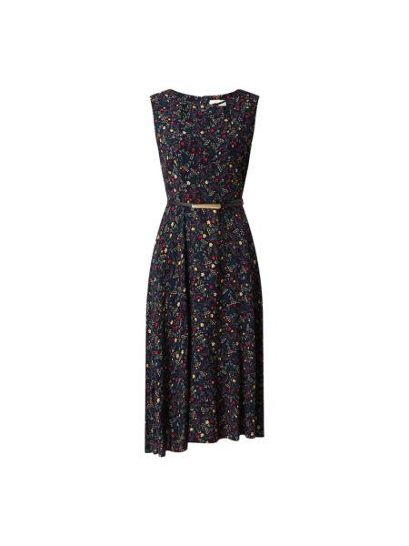 Niebieska sukienka midi z wiskozy bez rękawów Apricot