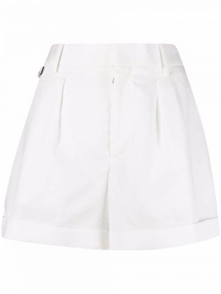 Хлопковые белые шорты с карманами с потайной застежкой Neil Barrett