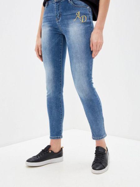 Синие джинсы-скинни узкого кроя Alessandro Dell'acqua