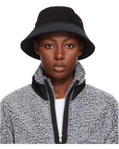 Пляжная черная шапка стрейч с вышивкой Rassvet