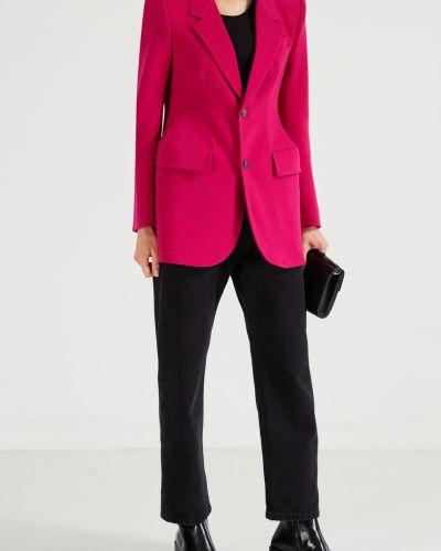 Пиджак шерстяной розовый Balenciaga