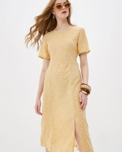 Желтое платье а-силуэта Pinkkarrot