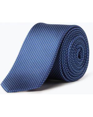 Krawat wąskie cięcie niebieski Olymp Level Five