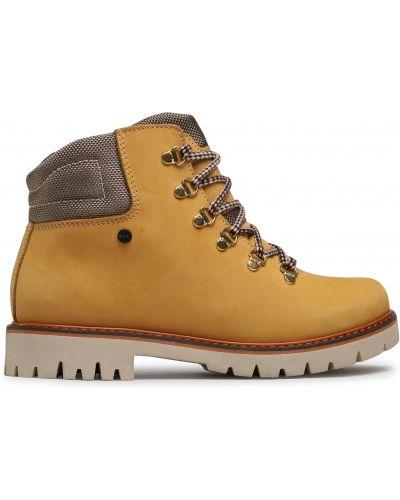 Кожаные ботинки - желтые Bartek
