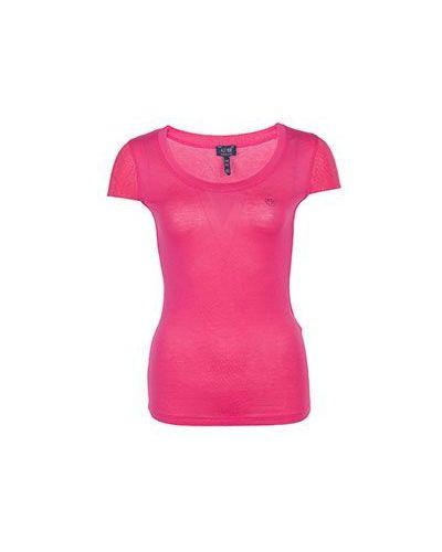 Розовая футболка из вискозы Armani Jeans
