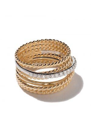 Кольцо с бриллиантом - белое David Yurman