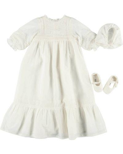 Biała sukienka Bonpoint
