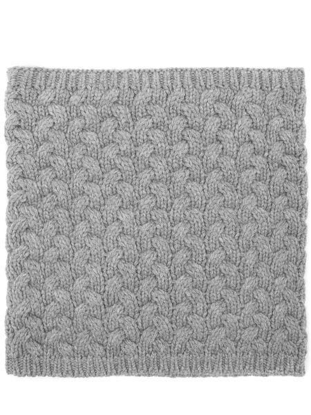Кашемировый серый шарф вязаный Malo