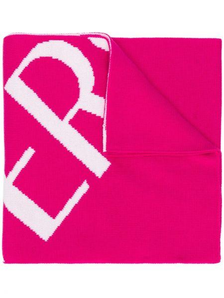 Wełniany szalik z logo Versace