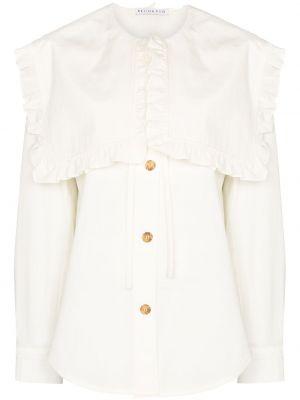 Biała koszula z długimi rękawami Rejina Pyo