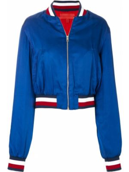Нейлоновая синяя короткая куртка Hilfiger Collection