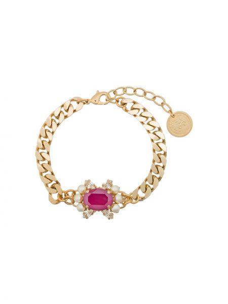 Złota bransoletka ze złota pozłacana perły Anton Heunis