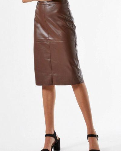Кожаная коричневая юбка Dorothy Perkins