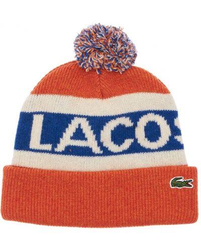 Шерстяная шапка бини - красная Lacoste