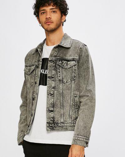 Джинсовая куртка утепленная укороченная Selected
