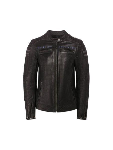 Кожаная прямая мягкая облегающая стеганая куртка Harley Davidson