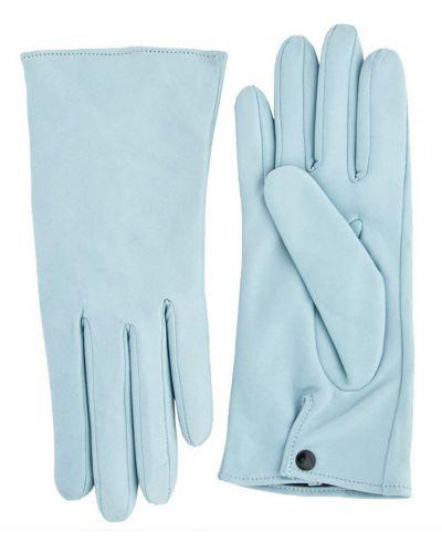Голубые кожаные перчатки Alpa Gloves