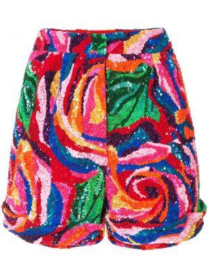 Нейлоновые шорты с карманами с потайной застежкой с пайетками Manish Arora