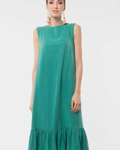 Платье миди бирюзовый весеннее Vladi Collection