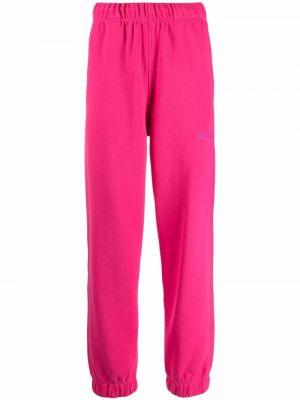 Хлопковый спортивный костюм - розовый Ganni