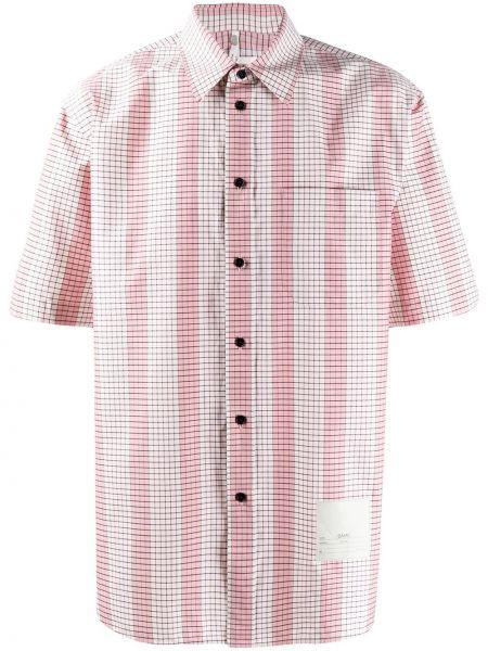 Koszula krótkie z krótkim rękawem w paski z paskami Oamc