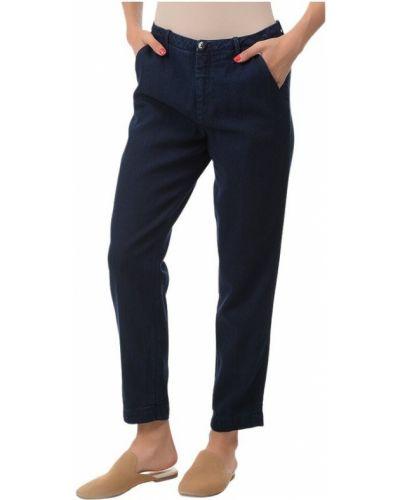 Niebieskie spodnie eleganckie Denham