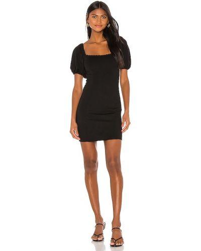 Трикотажное платье мини - черное Privacy Please