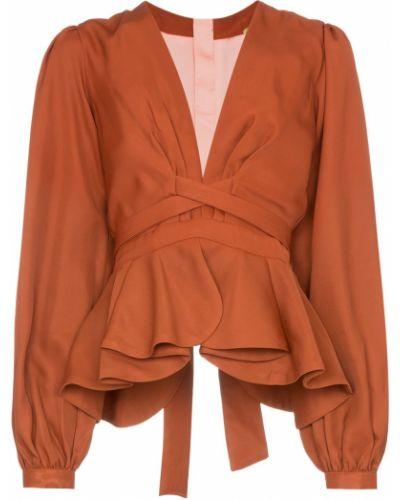 Блузка с длинным рукавом в полоску с поясом Johanna Ortiz