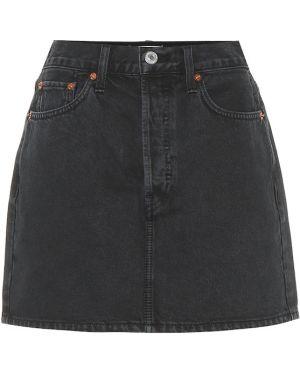 Bawełna bawełna czarny spódnica mini Re/done