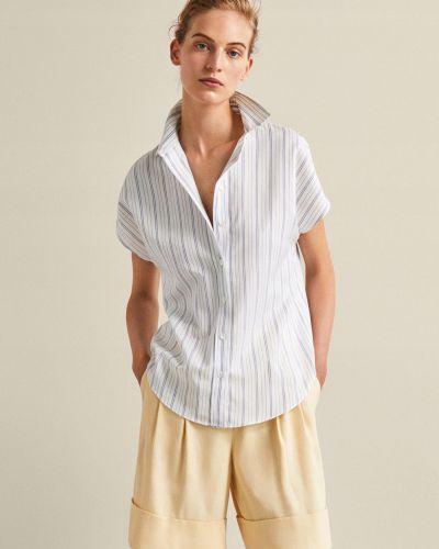 Белая рубашка в полоску Massimo Dutti