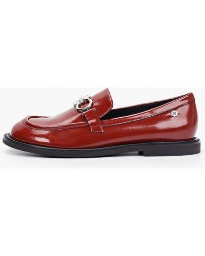 Красные лаковые кожаные лоферы Tuffoni