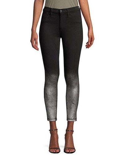 Хлопковые зауженные брюки с карманами Hudson Jeans