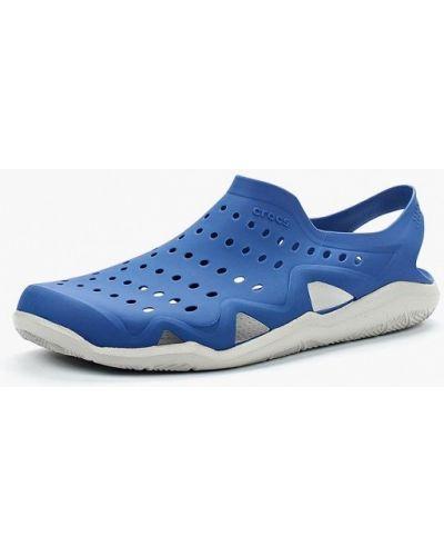 Синие спортивные сандалии Crocs