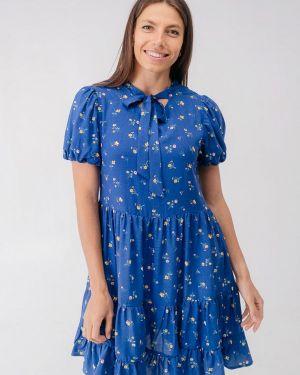 Платье синее прямое Bessa
