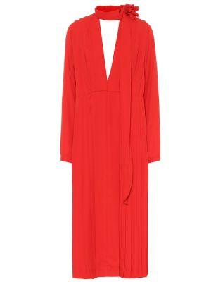 Платье плиссированное в рубчик Victoria Beckham