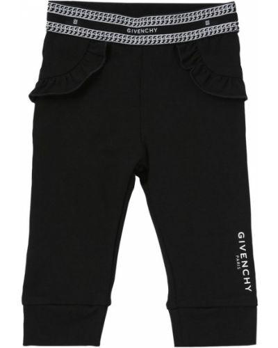 Трикотажные черные леггинсы эластичные Givenchy