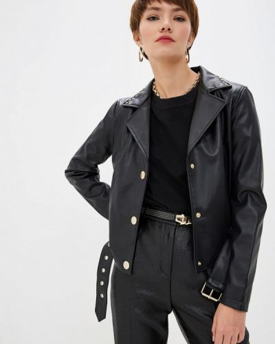 Кожаная куртка черная осенняя Armani Exchange