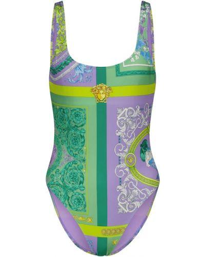 Фиолетовый пляжный купальник Versace