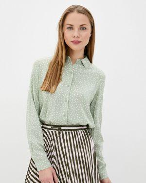 Зеленая блузка с длинным рукавом Sela