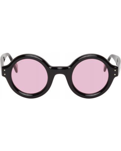 Czarne okulary z aksamitu Gucci