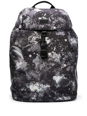 Biały plecak z printem Emporio Armani