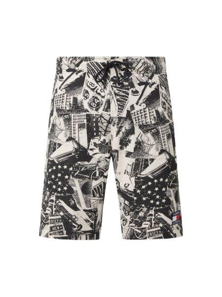 Bawełna bawełna czarny dżinsowe szorty z kieszeniami Tommy Jeans
